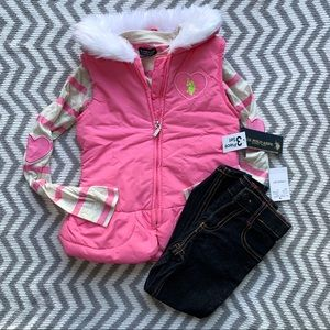 NWT Girls Polo Outfit (3pcs)